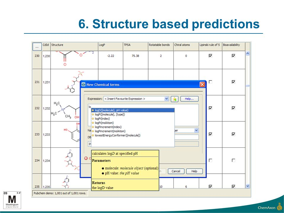 6. Structure based predictions