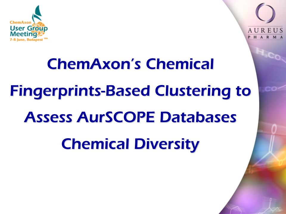 ChemAxons Chemical Fingerprints-Based Clustering to Assess AurSCOPE Databases Chemical Diversity