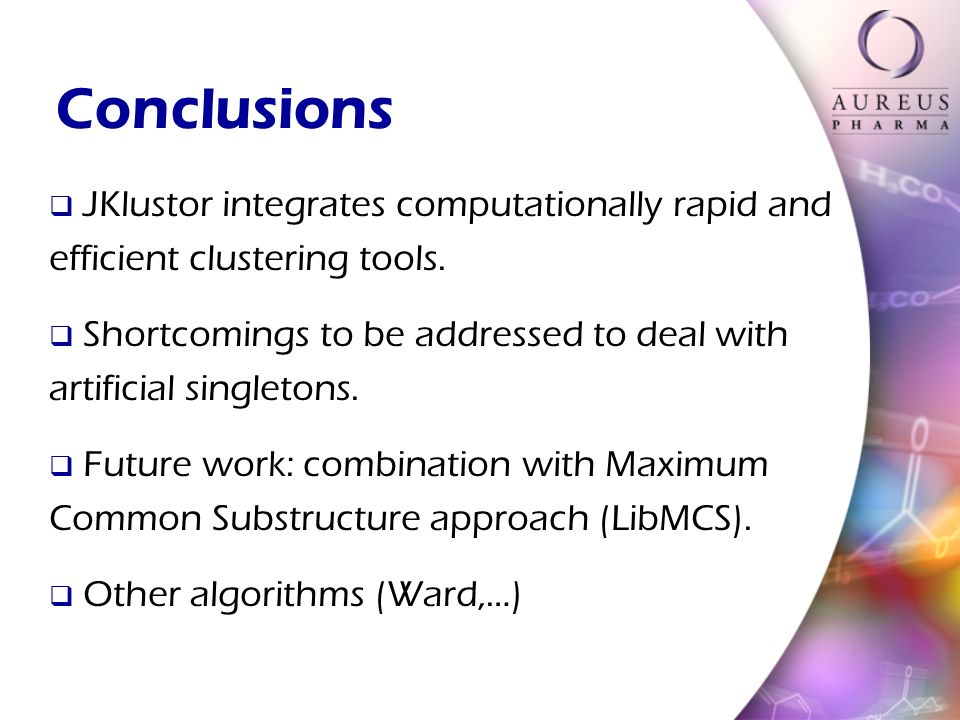 Conclusions JKlustor integrates computationally rapid and efficient clustering tools.