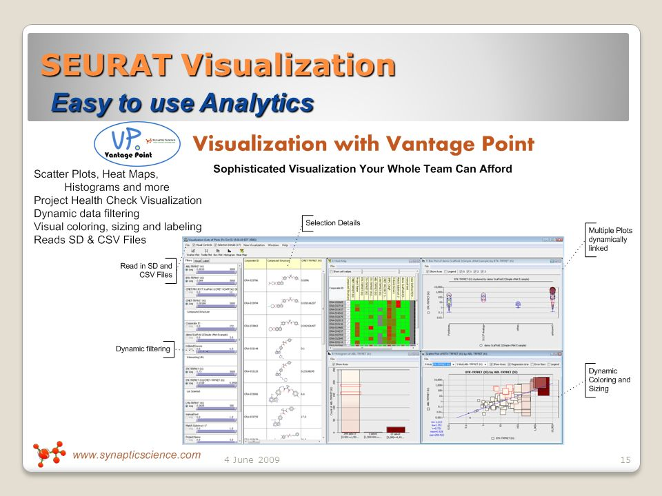 SEURAT Visualization Easy to use Analytics 154 June 2009
