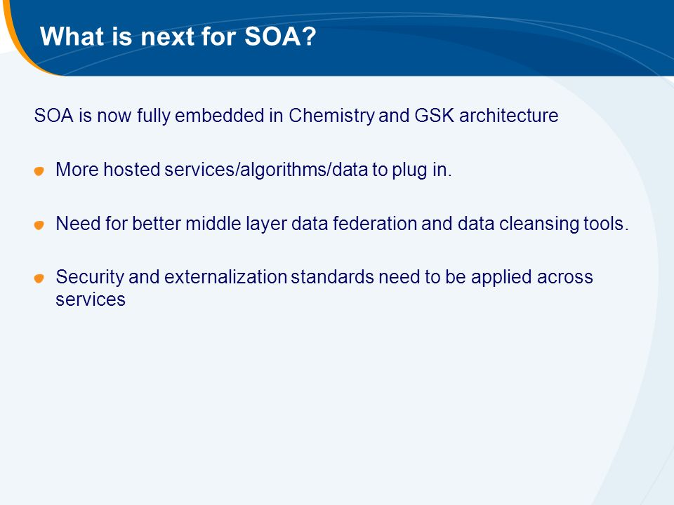 What is next for SOA.