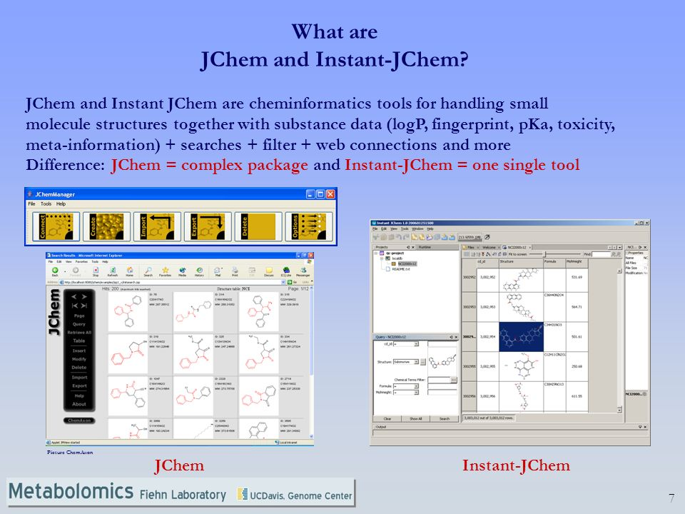 7 What are JChem and Instant-JChem.