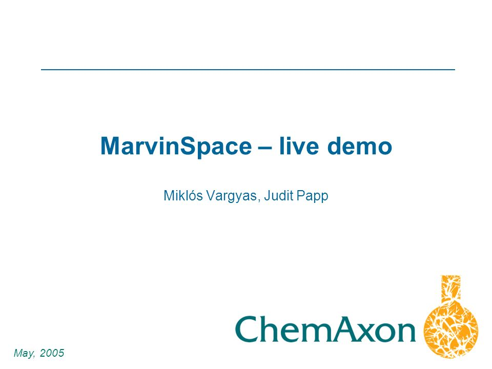 1 Miklós Vargyas, Judit Papp May, 2005 MarvinSpace – live demo