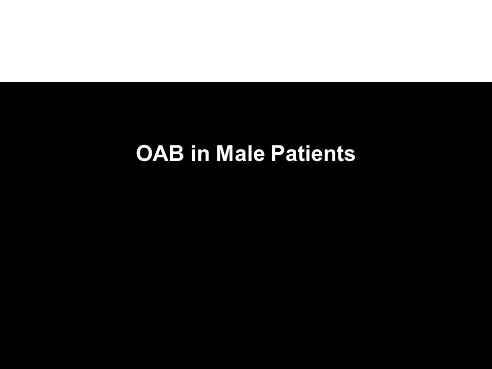 OAB in Male Patients
