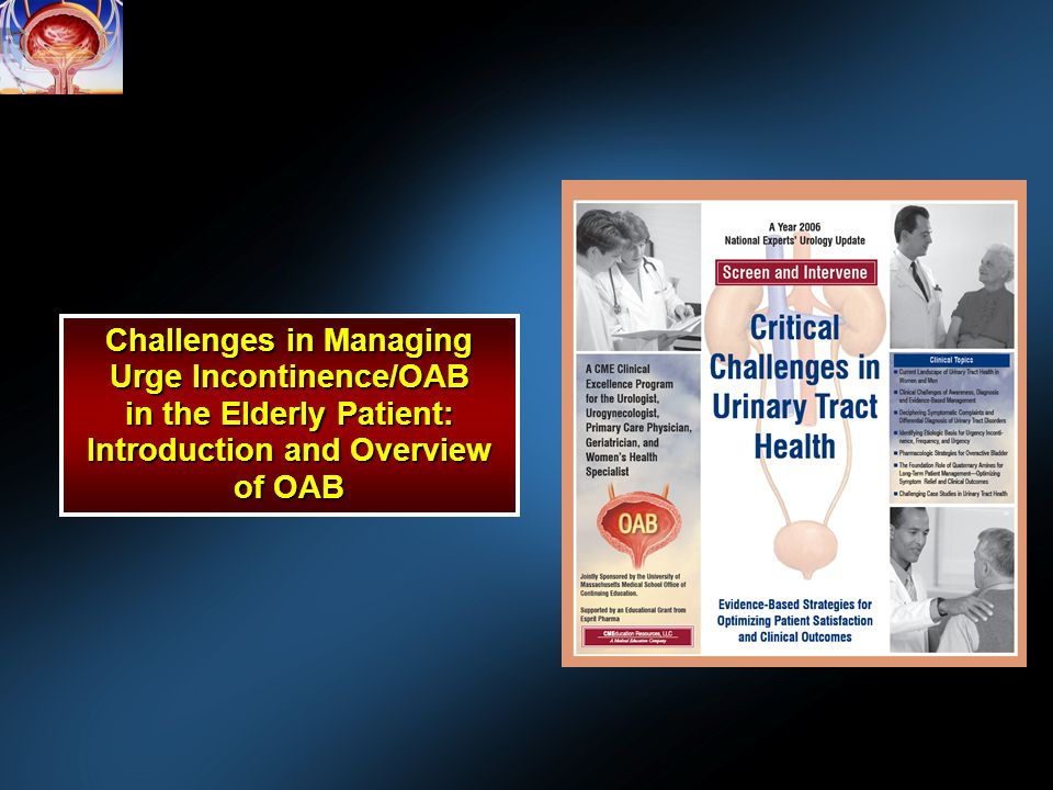 Challenges in Managing Urge Incontinence/OAB in the Elderly Patient: Introduction and Overview of OAB