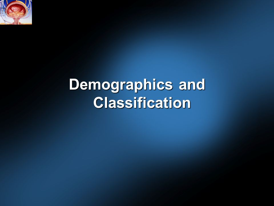 Demographics and Classification