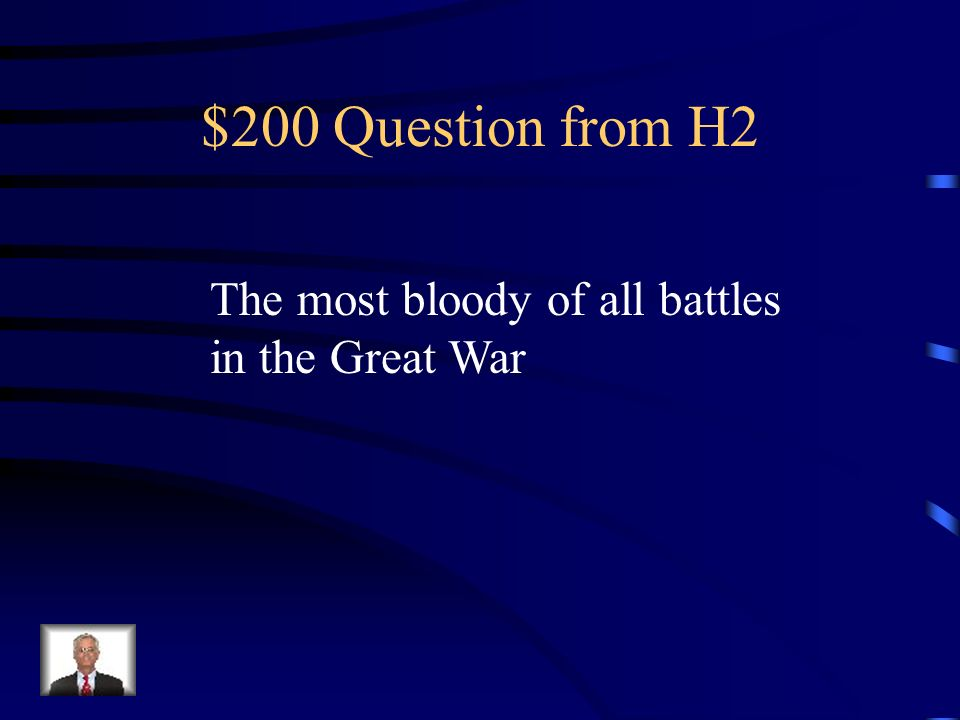 Jeopardy PeopleBattlesConditionsIssuesCauses Q $100 Q $200 Q $300 Q $400 Q $500 Q $100 Q $200 Q $300 Q $400 Q $500 Final Jeopardy