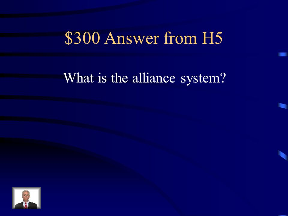 $300 Question from H5 Drew other nations into a local Balkan conflict