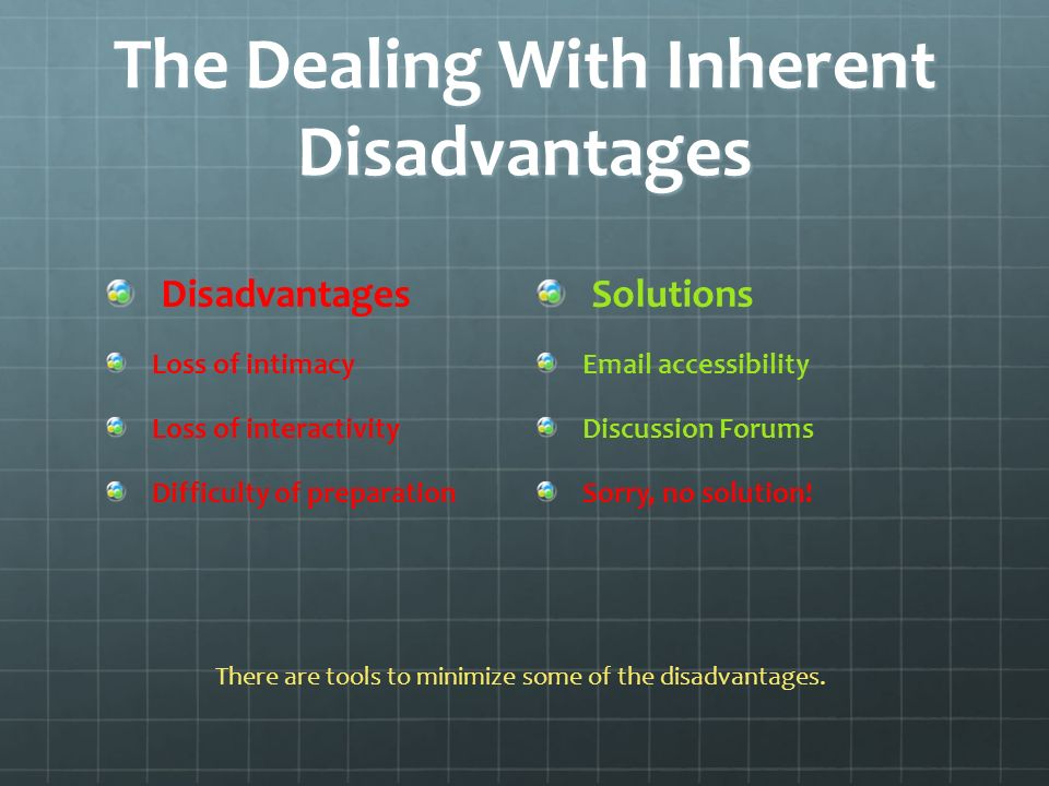 The Dealing With Inherent Disadvantages Solutions  accessibility Discussion Forums Sorry, no solution.