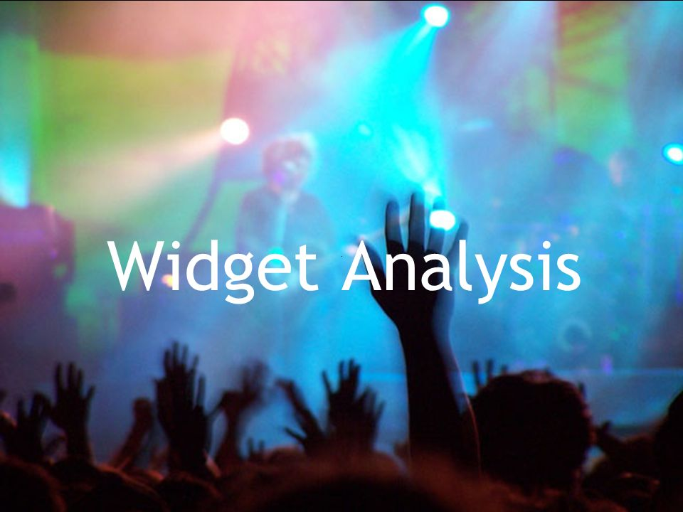Widget Analysis