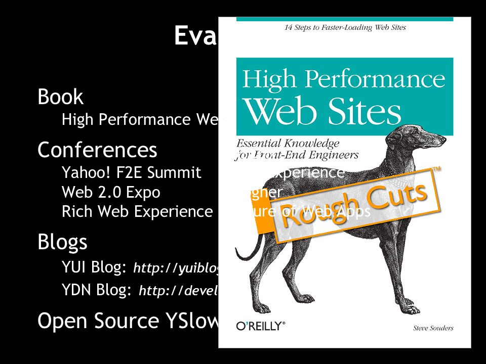 Book High Performance Web Sites Conferences Yahoo.