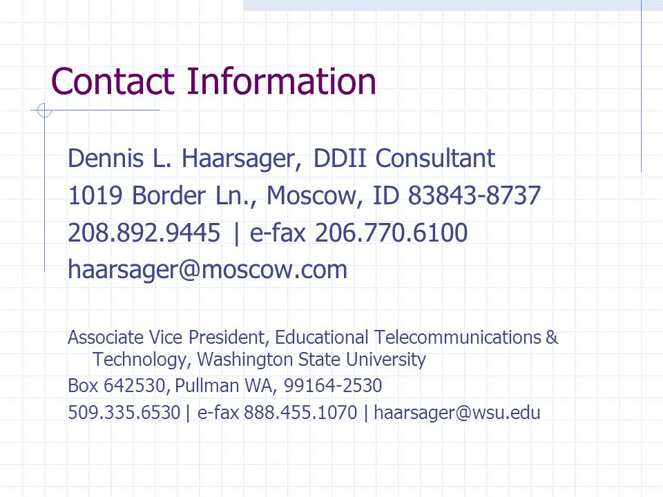Contact Information Dennis L.