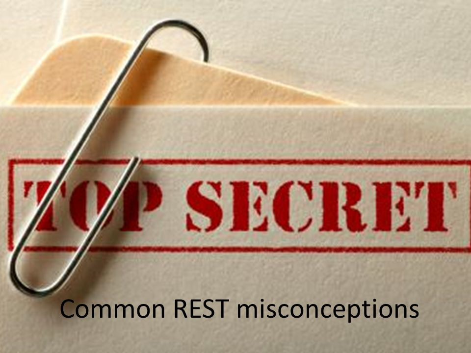 Common REST misconceptions