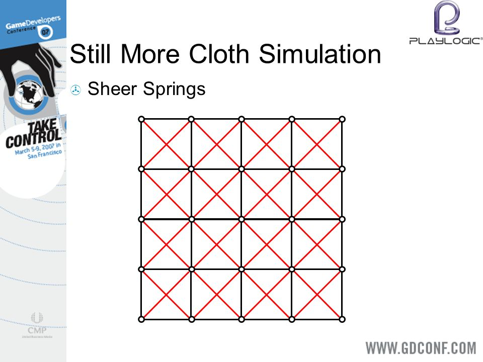 Still More Cloth Simulation Sheer Springs