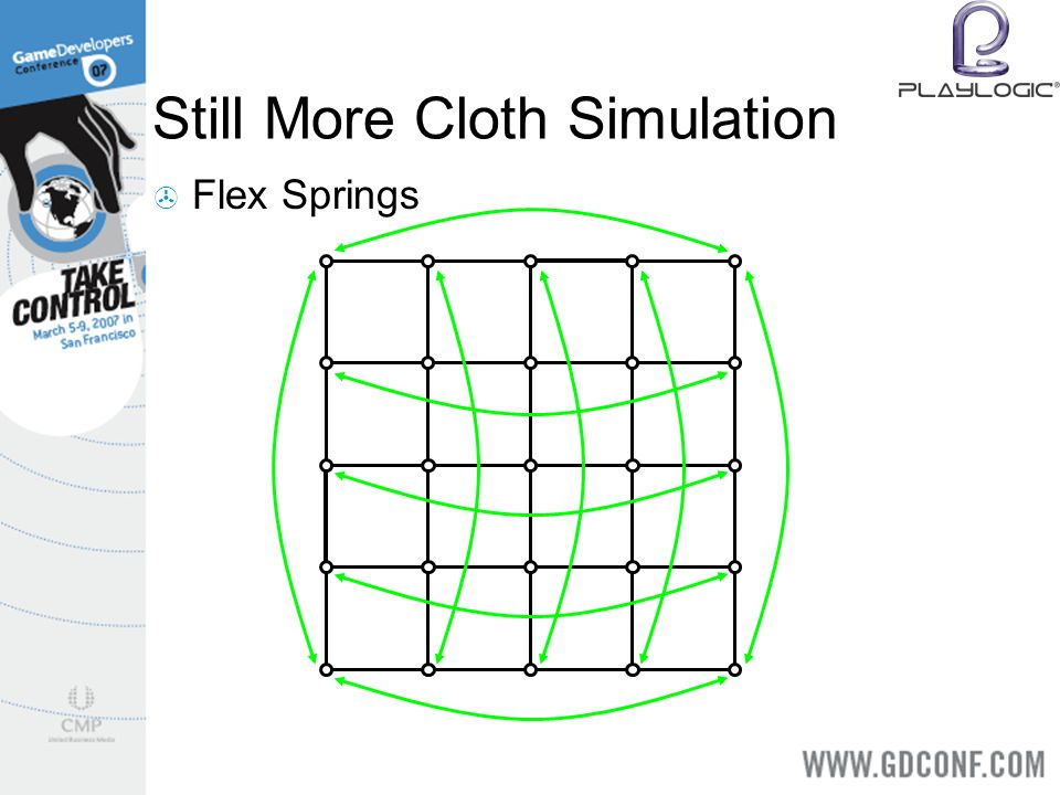 Still More Cloth Simulation Flex Springs