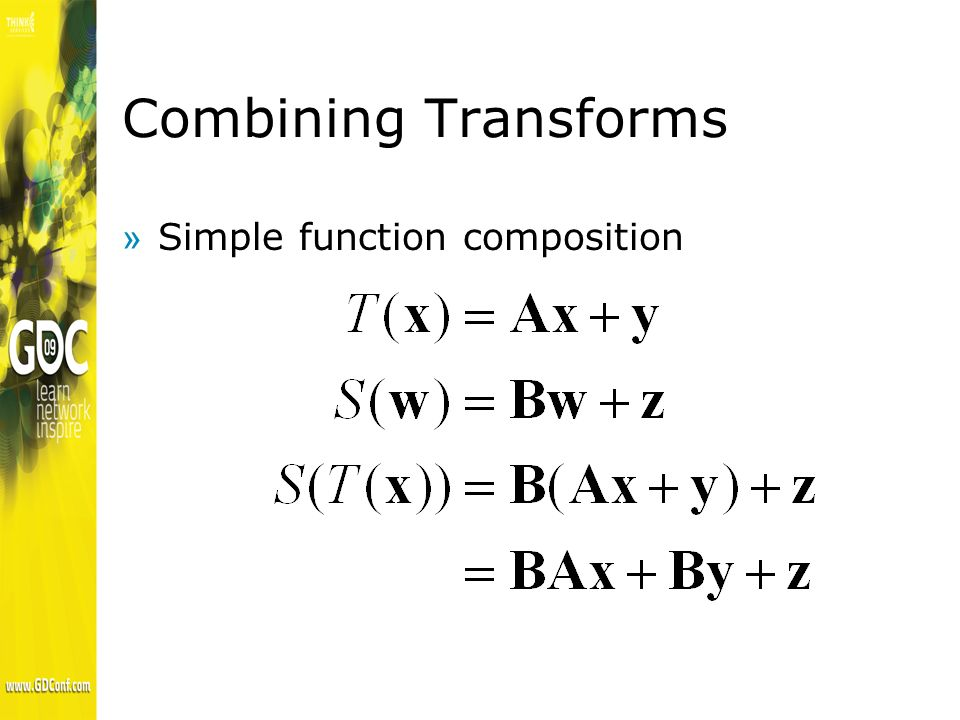 Combining Transforms »Simple function composition
