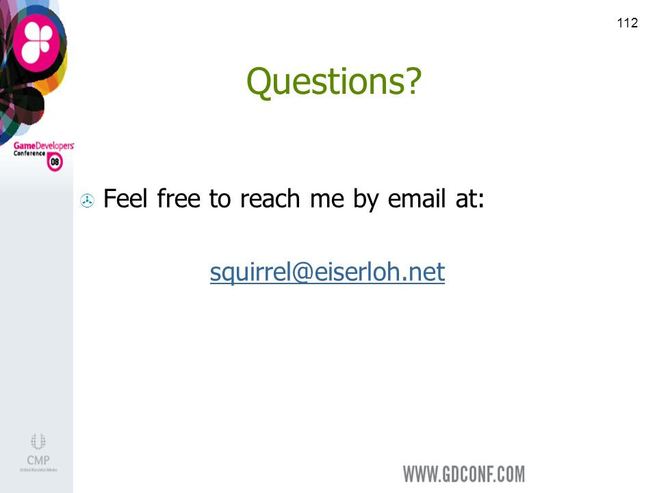 112 Questions Feel free to reach me by  at: