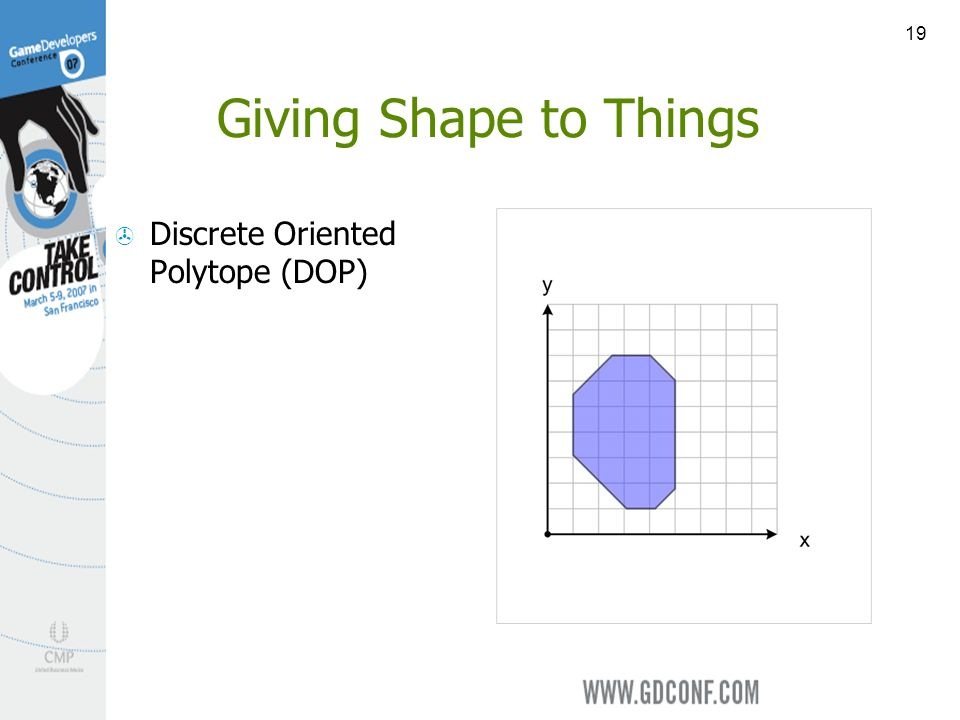 19 Giving Shape to Things Discrete Oriented Polytope (DOP)