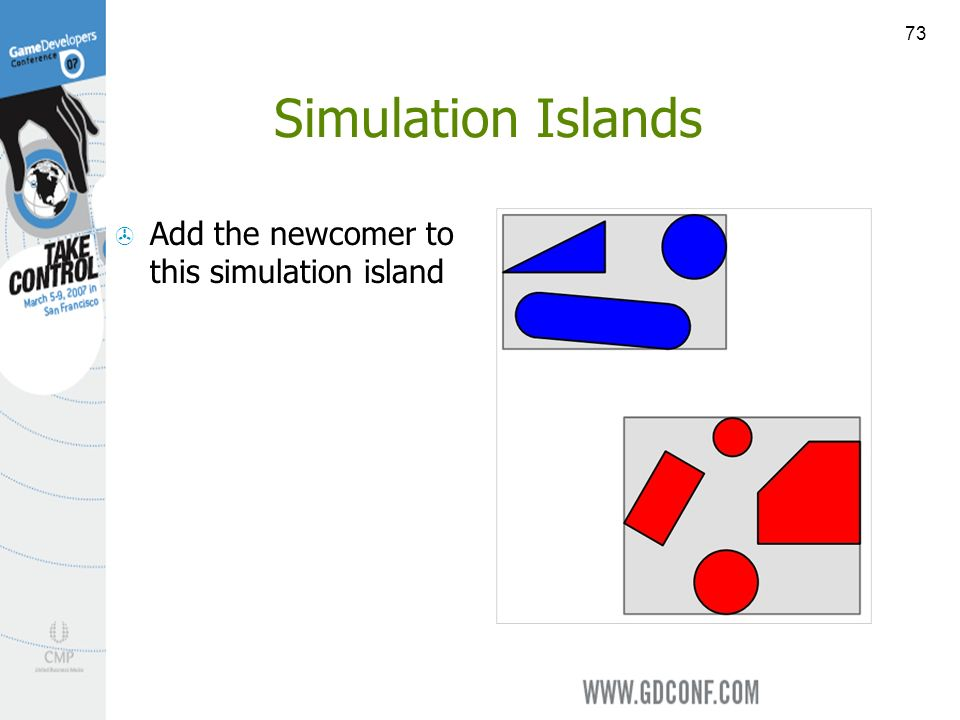73 Simulation Islands Add the newcomer to this simulation island