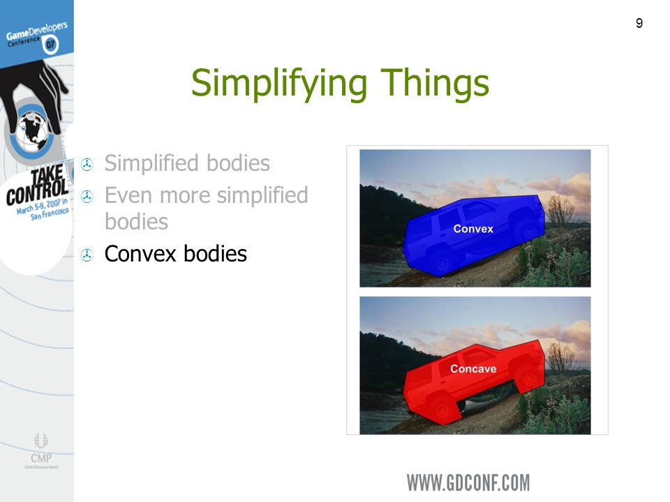 9 Simplifying Things Simplified bodies Even more simplified bodies Convex bodies