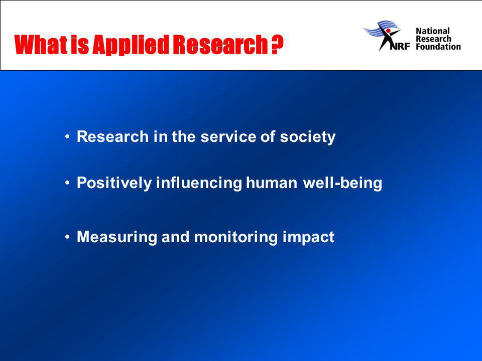 What is Applied Research .