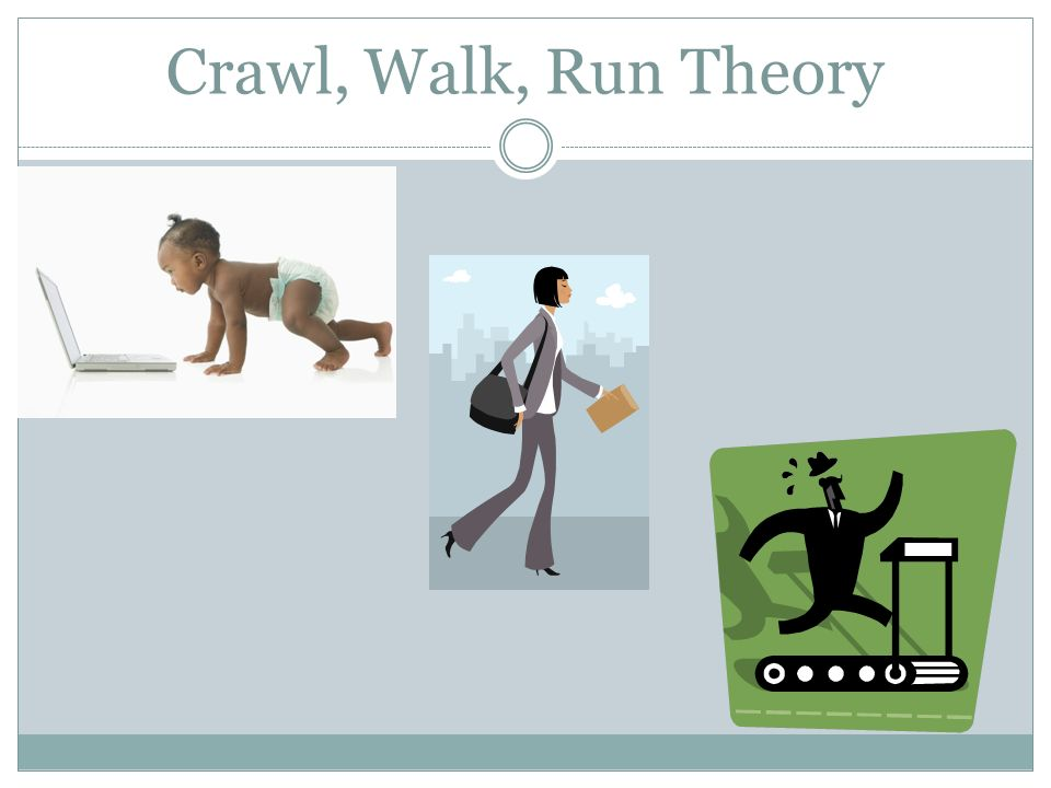 Crawl, Walk, Run Theory