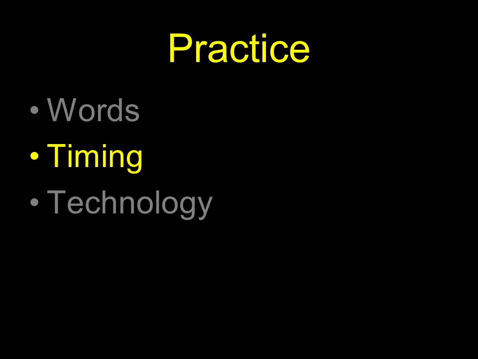 Practice Words Timing Technology