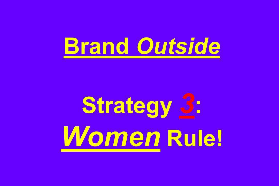Brand Outside Strategy 3 : Women Rule!