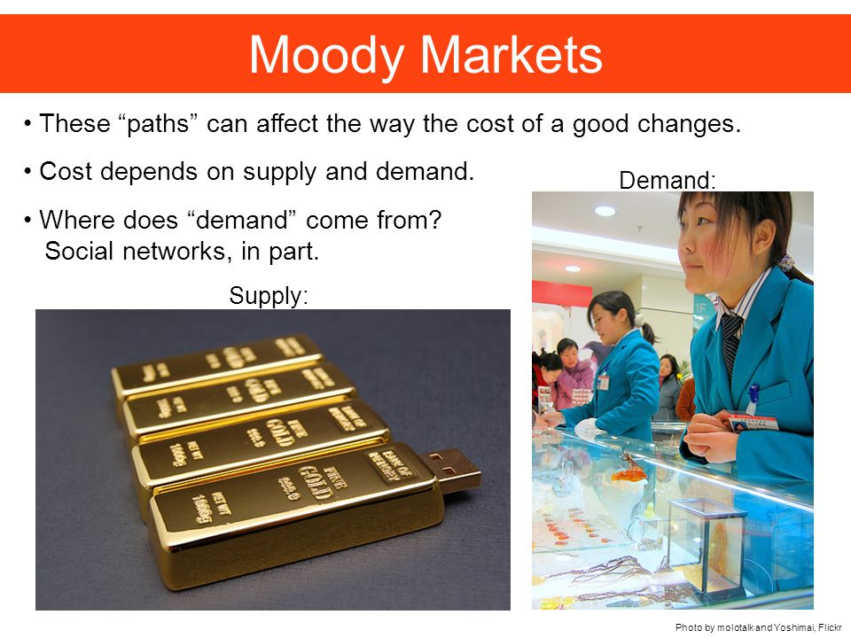 Moody Markets These paths can affect the way the cost of a good changes.
