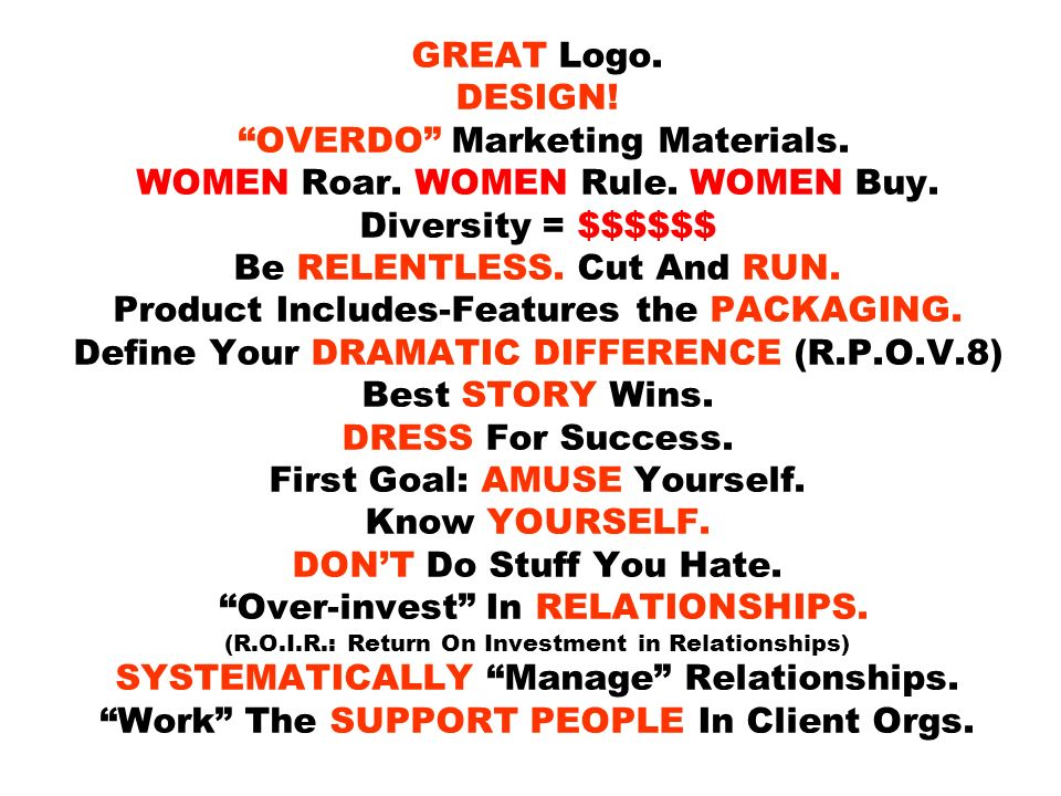 GREAT Logo. DESIGN. OVERDO Marketing Materials. WOMEN Roar.