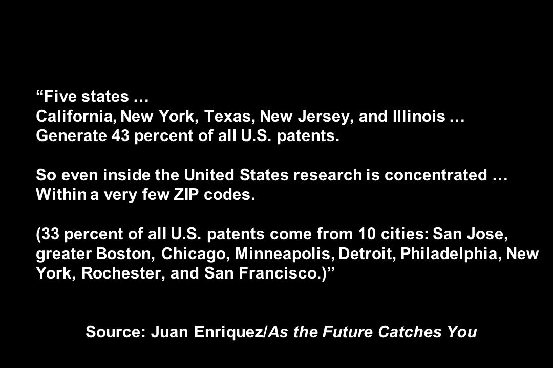 Five states … California, New York, Texas, New Jersey, and Illinois … Generate 43 percent of all U.S.
