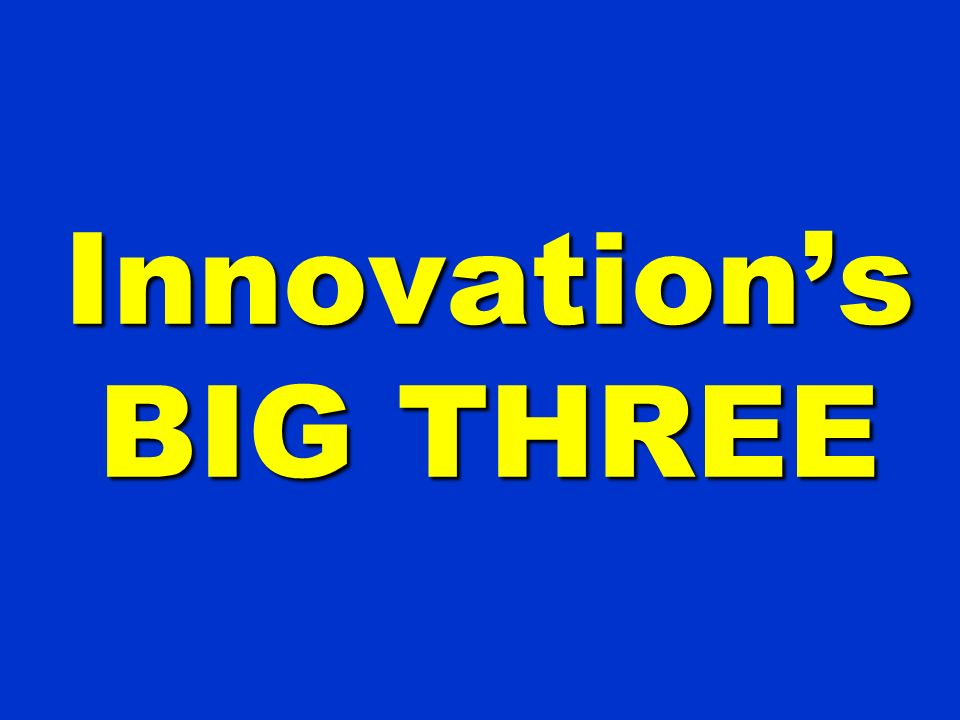 Innovations BIG THREE