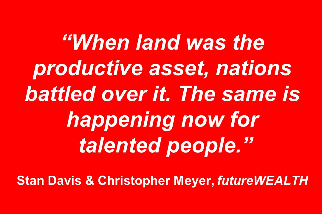 When land was the productive asset, nations battled over it.