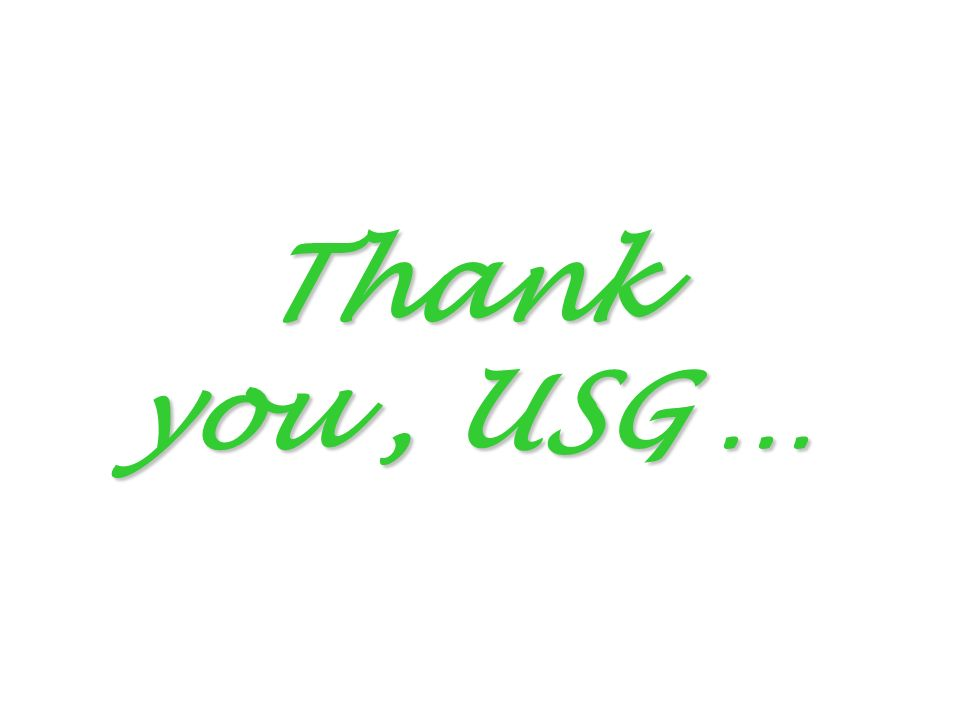 Thank you, USG …