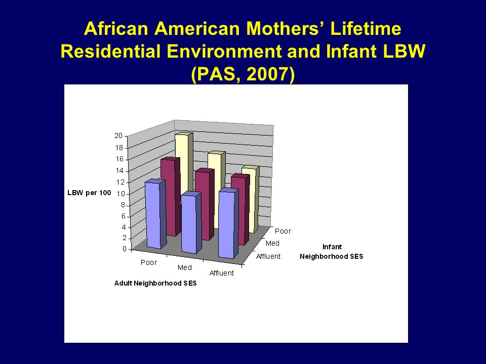 African American Mothers Lifetime Residential Environment and Infant LBW (PAS, 2007)
