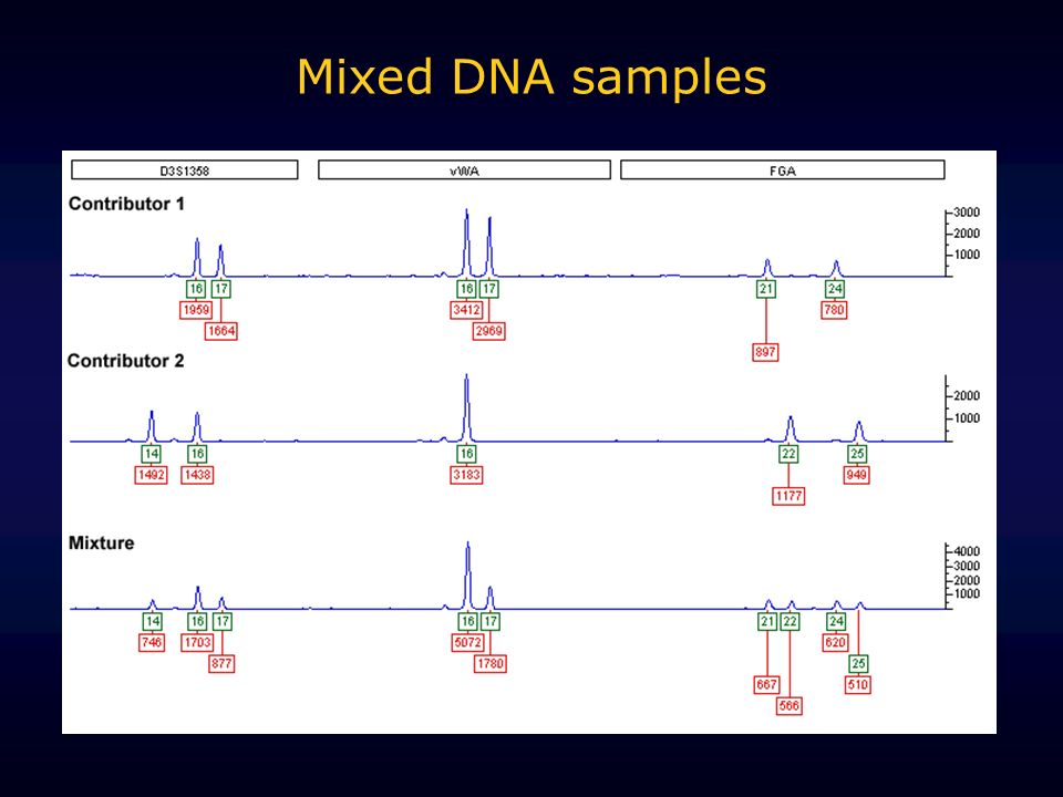 Mixed DNA samples