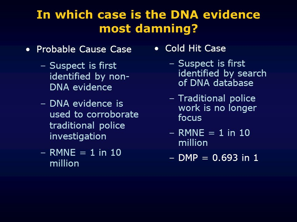In which case is the DNA evidence most damning.