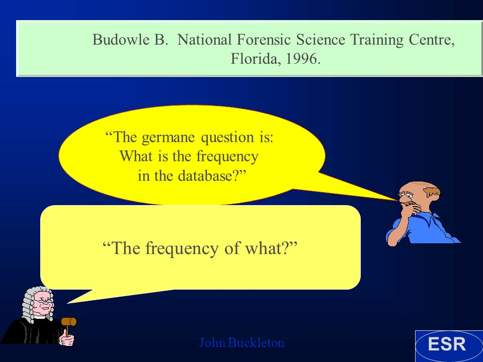 ESR John Buckleton Budowle B. National Forensic Science Training Centre, Florida,