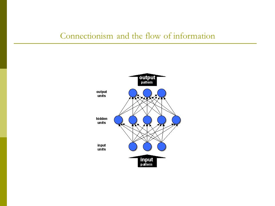 Connectionism and the flow of information