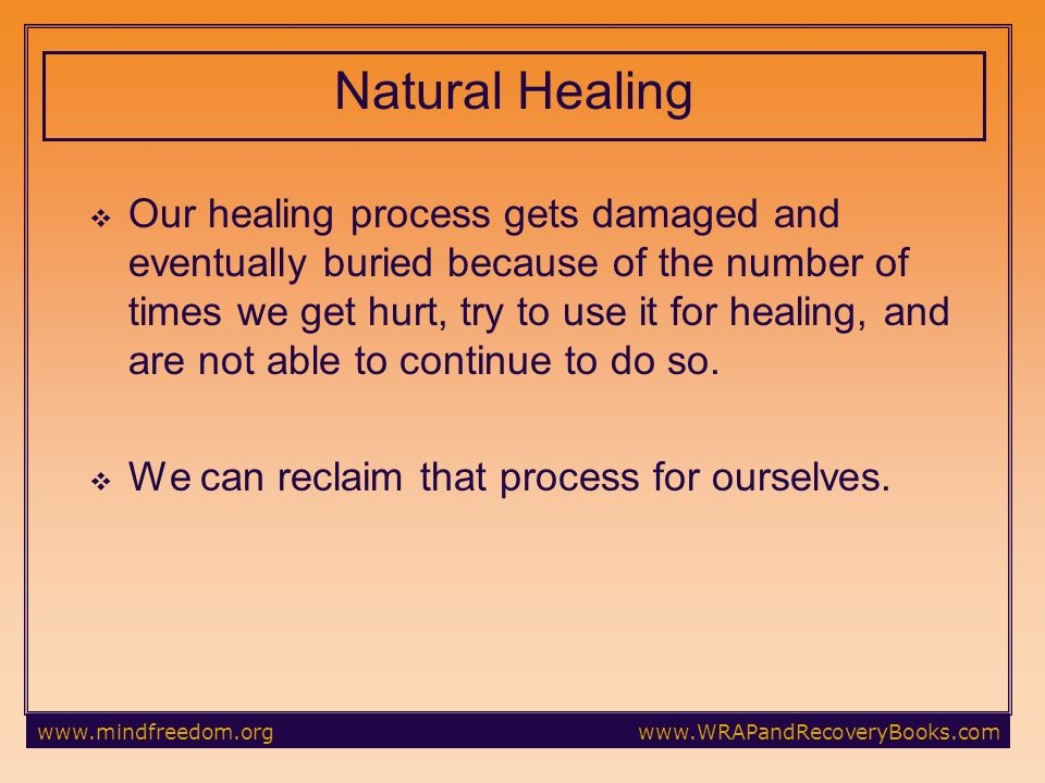 Our healing process gets damaged and eventually buried because of the number of times we get hurt, try to use it for healing, and are not able to continue to do so.