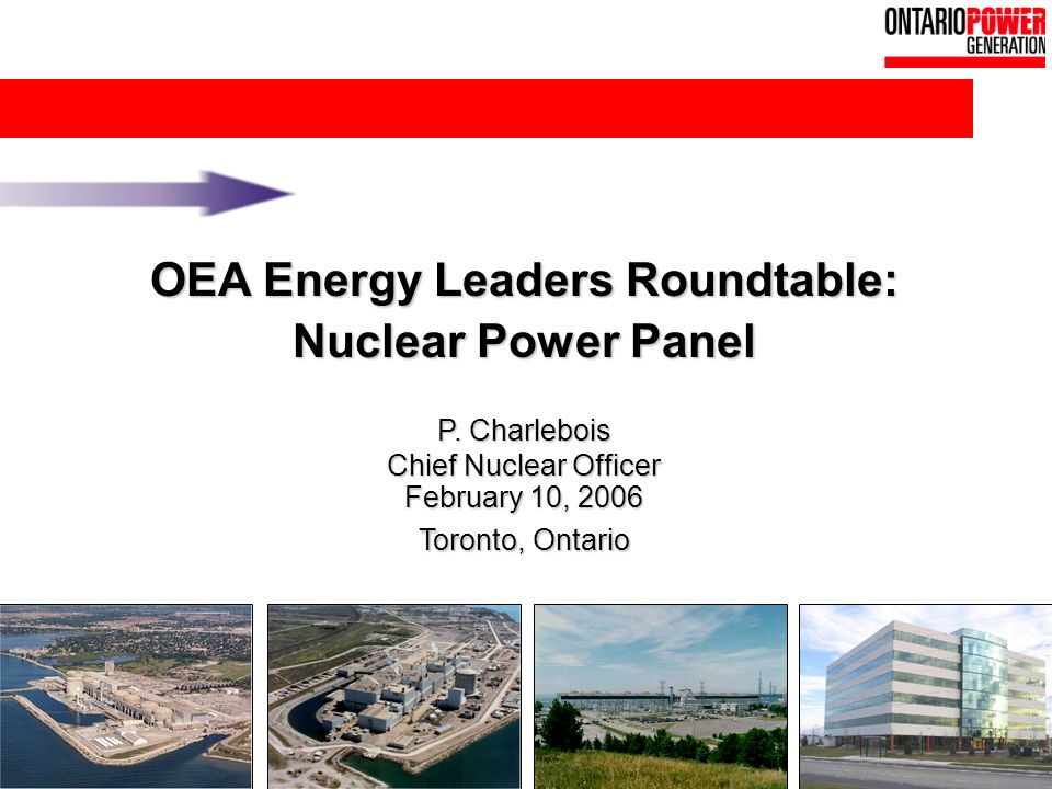 16 OEA Energy Leaders Roundtable: Nuclear Power Panel P.
