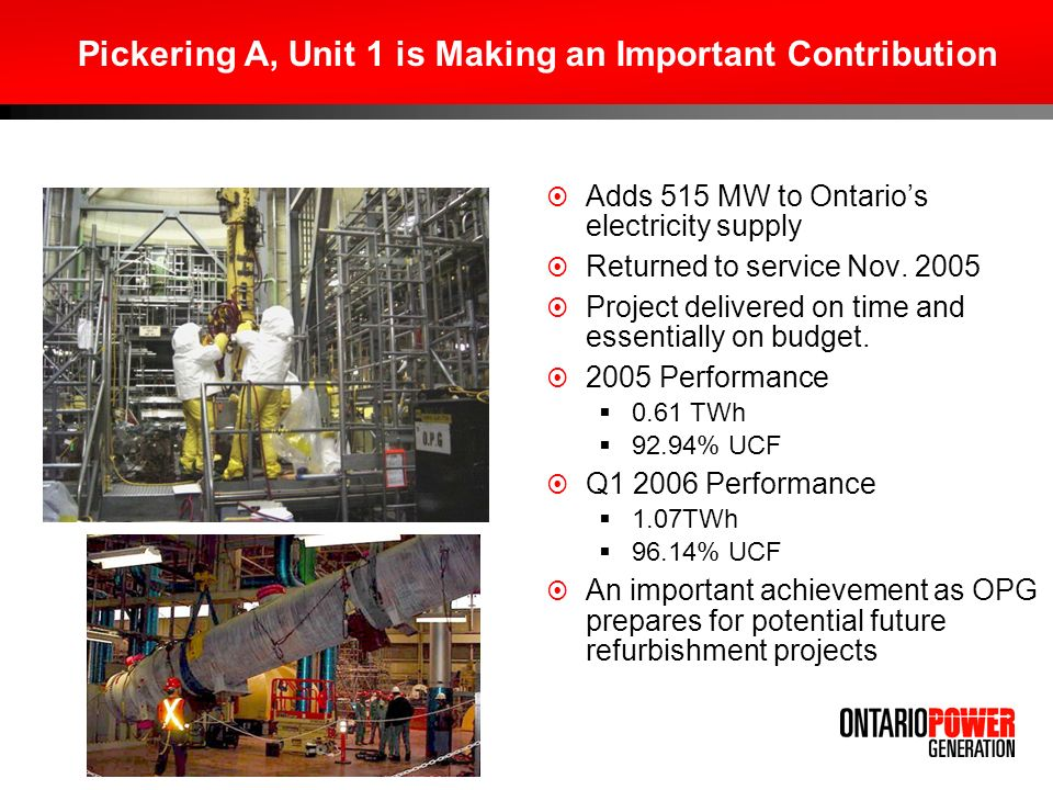 Adds 515 MW to Ontarios electricity supply Returned to service Nov.