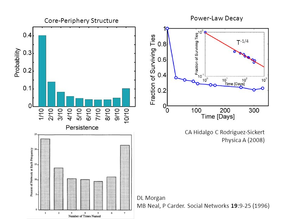 Core-Periphery Structure Power-Law Decay CA Hidalgo C Rodriguez-Sickert Physica A (2008) DL Morgan MB Neal, P Carder.