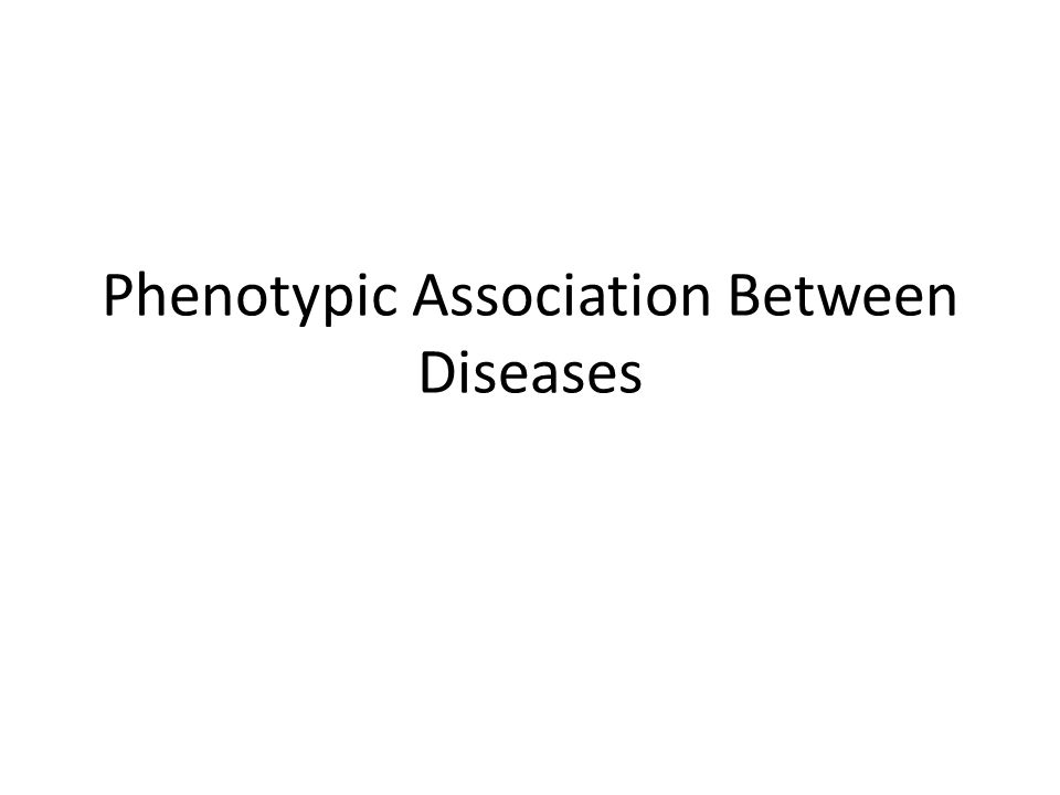Phenotypic Association Between Diseases