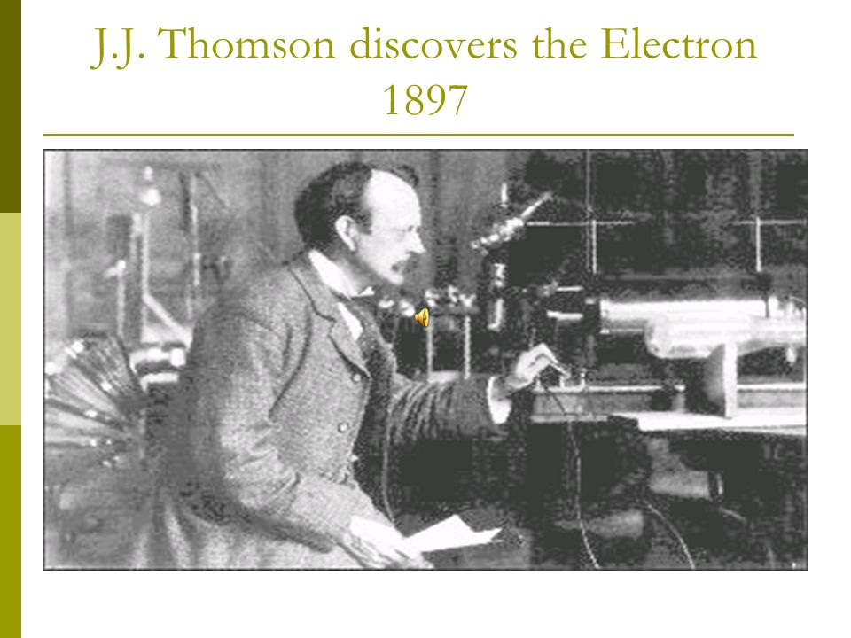 J.J. Thomsons Apparatus