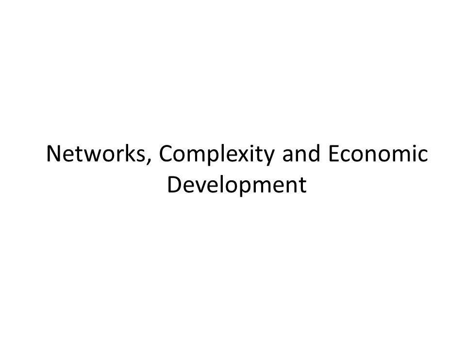 Networks, Complexity and Economic Development