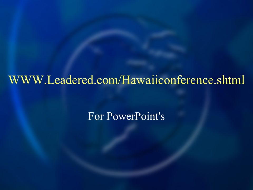 For PowerPoint s