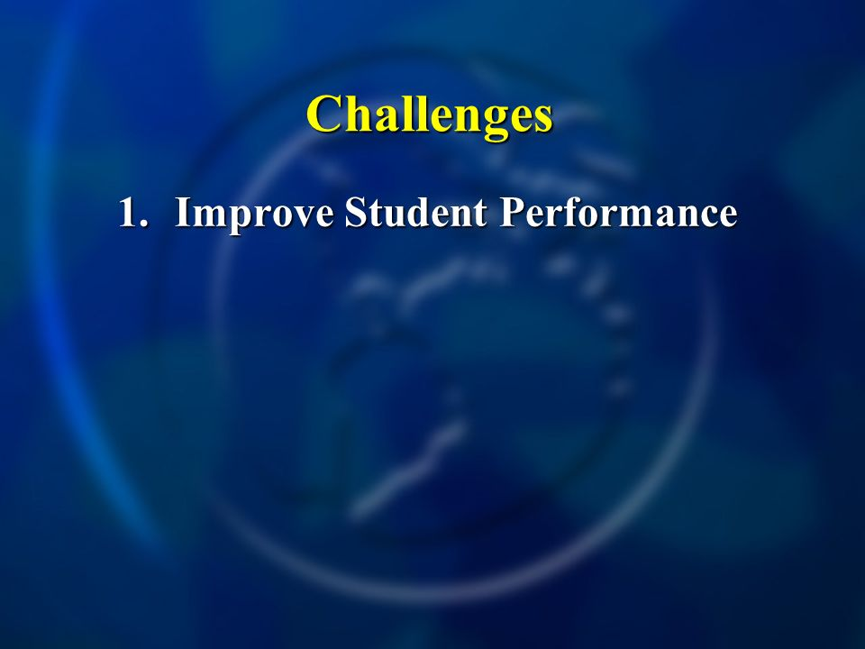 Challenges 1.Improve Student Performance