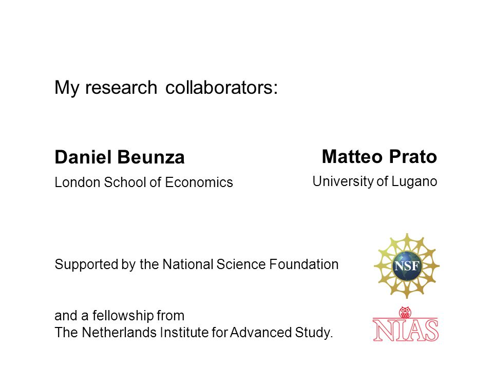 My research collaborators: Daniel Beunza London School of Economics Supported by the National Science Foundation and a fellowship from The Netherlands Institute for Advanced Study.