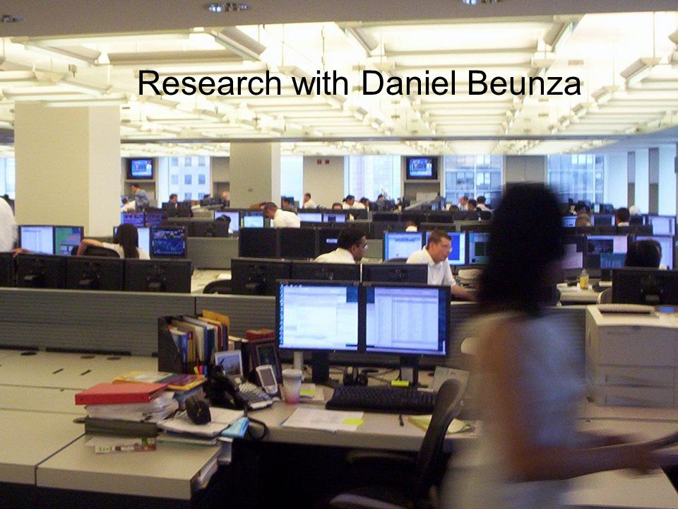 Research with Daniel Beunza